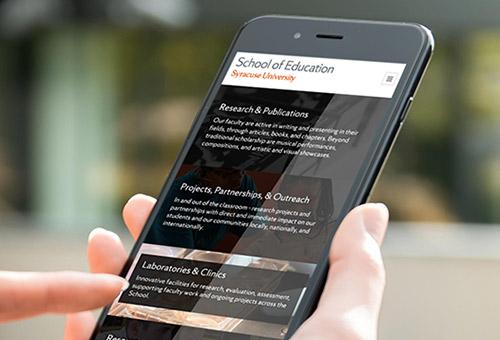 Syracuse SOE mobile site