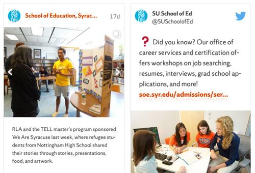 Syracuse SOE social media