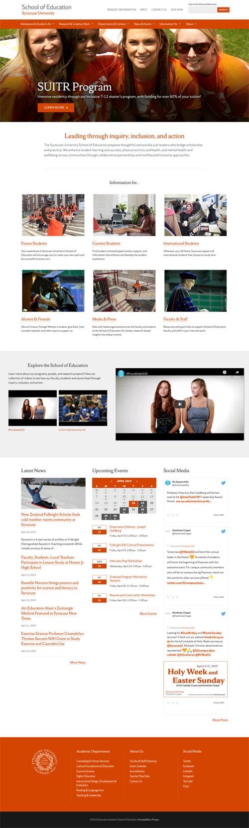 Syracuse University SOE website