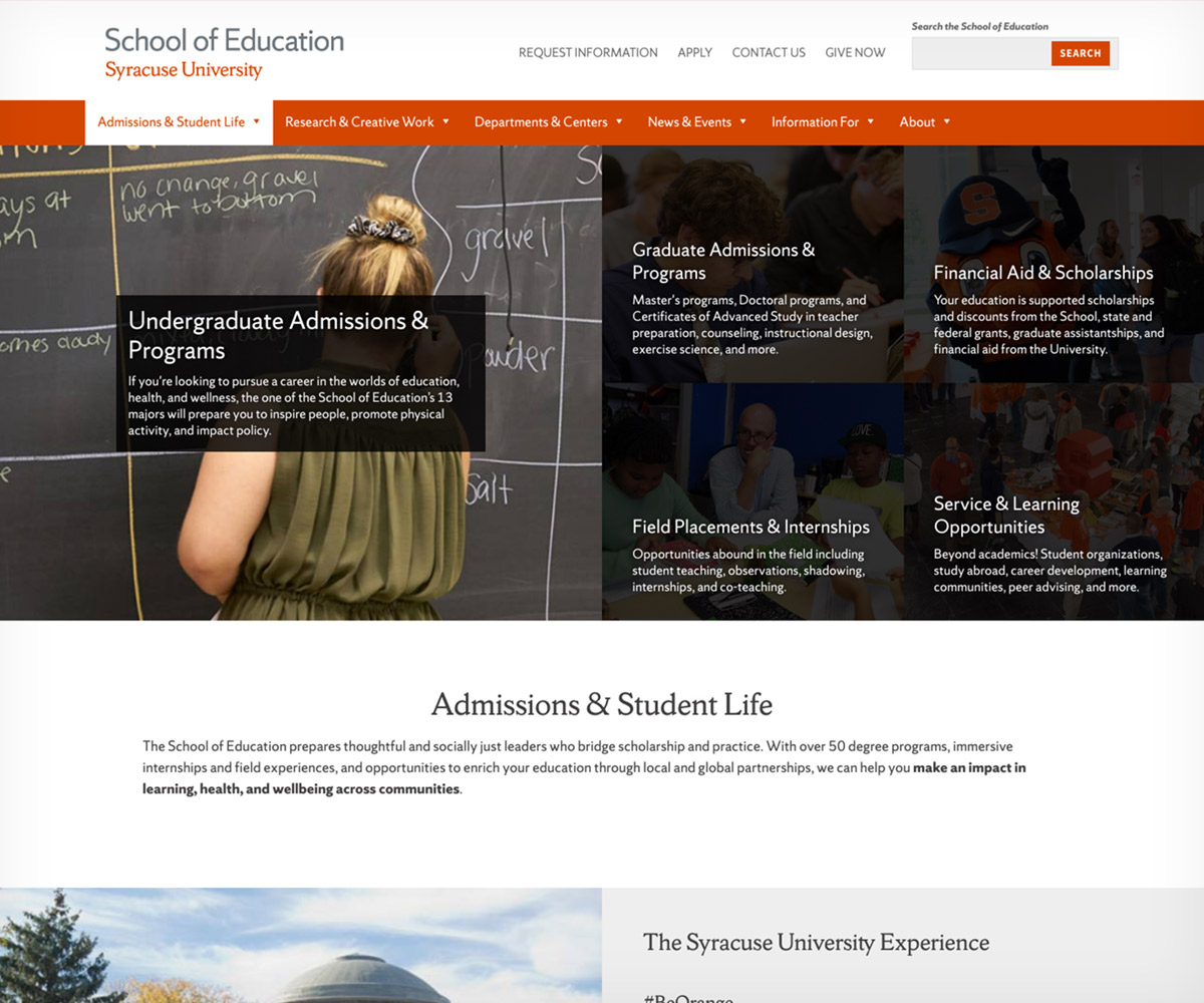 SOE admissions section